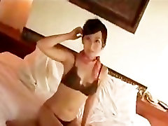 Hot asian babe stripping