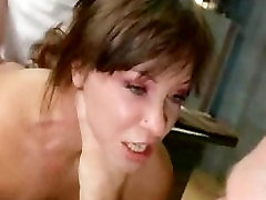 Bdsm brunette anal hooked and gangbang fucked