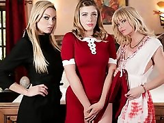 Kenzie Taylor & Giselle Palmer & Serene Siren in virgin family sex Witch: A Chilling Adventures Of Sabrina Parody, Scene 01 - GirlsWay