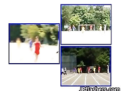 Asian girls run a nude track and field part3