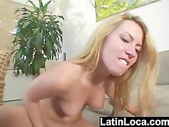 Blonde Latin girl picked up from the beach gets her pussy fucked