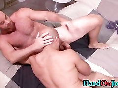 Hairy hunk gets his hairy ass fucked part3