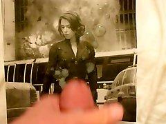 Scarlett Johansson as mahi ar xxx Widow Avengers - machin hard police & White cum tribute