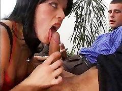 Milf takes 2 cocks - DP