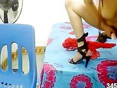 Asian Japanese Taiwan sexy babe Masturbation webcam bikini bj school