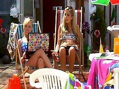 Jorgie Porter hot in bikini and undies mix video. Video