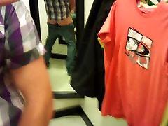 Horny glasgow bi boy wanking in changing room