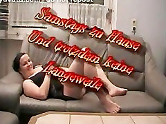 BBW wife gets a seeing to on the sofa