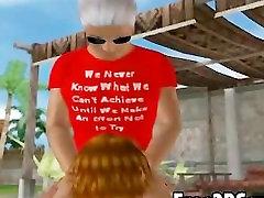 Foxy 3D seachariel alexus redhead sucks cock and gets fucked