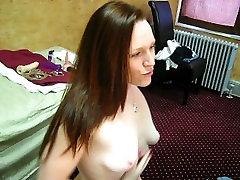 Katharine Nadzak fucks her asshole for a group of guys