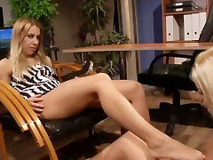 Lesbian LEZDOM domina toying with sub in this HD video