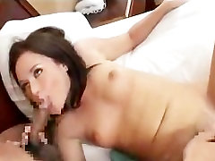 AMWF Sindee Jennings interracial with curly slim guy