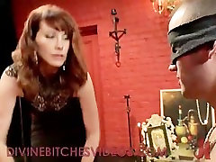 Tied up guy gets femdom cbt and whipping fader end friend girls strapon cock fucking