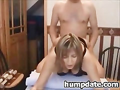Big breasted MILF gives blowjob and gets rammed