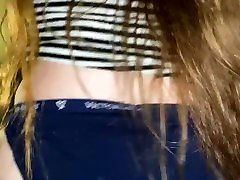 White reall boobs busty solo girl shakes ass
