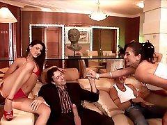 Anal Gangbang & bihari boor xxx Orgy! Three Big Dicks & Four Pussy Munching Chicks