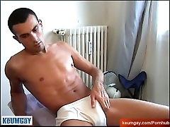 Very long dick and horny guy get wanked in site of him! Keumgay guy !