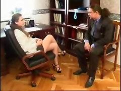 Russian Secretary Office jav tube crampy with Old Boss
