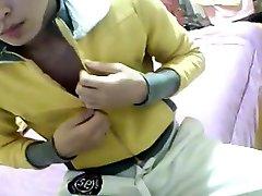 cute piss in hole twink strip & wank on webcam 455