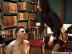 Hot chair facesitting and ass worship