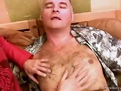 Russian daddy rims & fucks young man