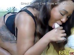 Bootylicious oiled up big ass joi cutie sex brubeet makes a sloppy blowjob and twerks huge black ass