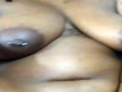 Thicc Ebony wFat Jiggly ksenia valley and Tits Strips Down for Solo Play