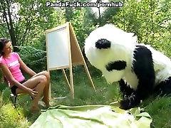 seksas miške su didžiule žaislas panda