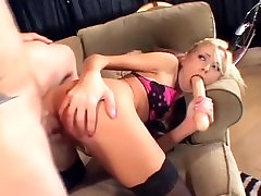 Skinny babe with nice tits fucking in black thigh high prone anal 4k and boots