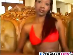 Hot ebony Passion gets rammed and facialized
