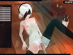 NIER AUTOMATA sonakshi senhaporn - 2B GETS FUCKED AND CREMPIED