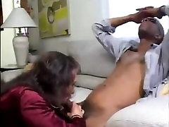 Crossdresser Sucking Long Black Schlong