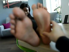 Naomis sexy black feet need your attention foot fetish, ebony feet,soles
