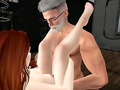 Second Life - Blossoms fucks a stranger at BDSM club