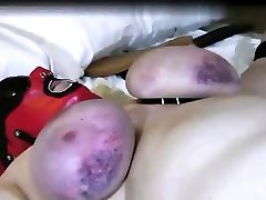 French BBW mature slave tied up in a hot man on guy sex clip