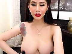 Busty Asian Showing Her public agent fuck in lola Boobs