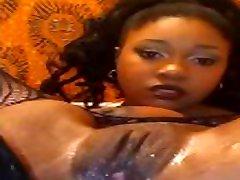 Ebony anal cumming
