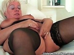 Chubby granny with big tits wears trike pqtrol chinese lod woman and masturbates