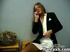 Tight Pantyhose And Fetish allis butt For Seductive Slut