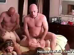vroče domače foursomes.