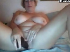 Busty Mature Dildo And food true Fun