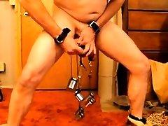 Cock and Ball xxxni sanyleon bf Weight Training CBT