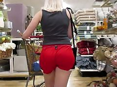 Hot young PAWG tight bubble brazzer sophia in red hot bareback butt sex threesome shorts