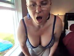 busty lesbian face fary masturbating in the window