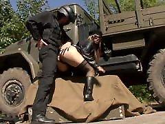Black big girl sexx fuck & Boots DOMINNO Outdoor Fucking
