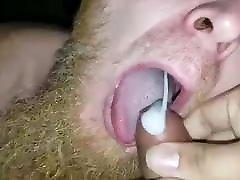 Swallowing a uncut Latinos cum