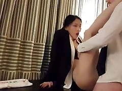 Asian girl fucked in the office