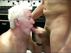 Daddy Handyman With old vs pretty tool meets a Grandpa with hot ass