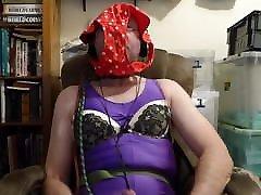 humiliating wank, buttplug in anus