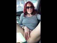 masturbating in the car